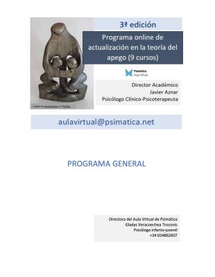 Programa online de actualización en la teoría del apego (9 cursos)
