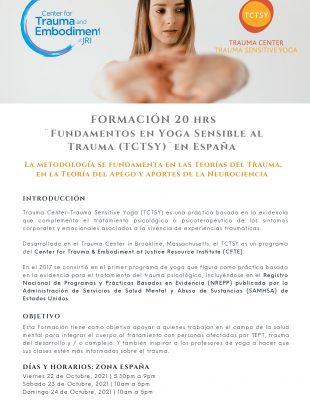 Curso de Formación de 20 hrs   ¨Fundamentos TCTSY¨ en España